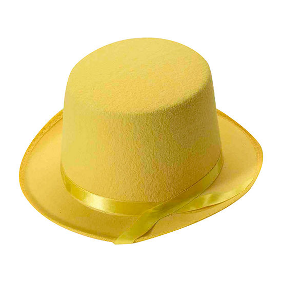 Deluxe Yellow Top Hat Dress Up Accessory