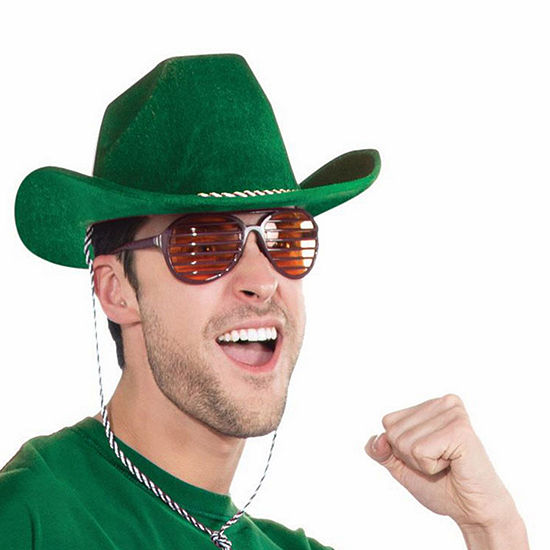 Deluxe Green Cowboy Hat Dress Up Accessory