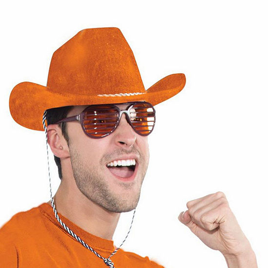 Deluxe Orange Cowboy Hat Dress Up Accessory
