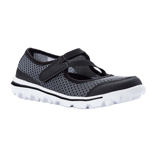 Propet Womens Travelactiv Mry Jo Mary Jane Shoes Hook and Loop Round Toe