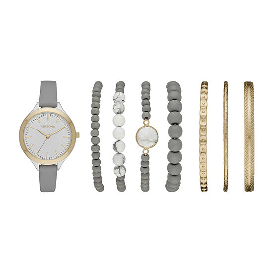 Arizona Arizona Sets Womens Gray Watch Boxed Set-Fmdarz178