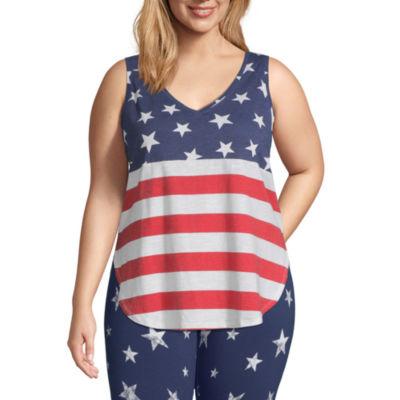 Mixit Americana Womens Tank Top- Plus