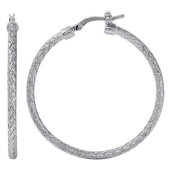 Paris 1901 By Charles Garnier Sterling Silver Hoop Earrings