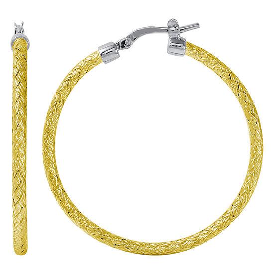 Paris 1901 By Charles Garnier 18K Gold Over Silver Hoop Earrings