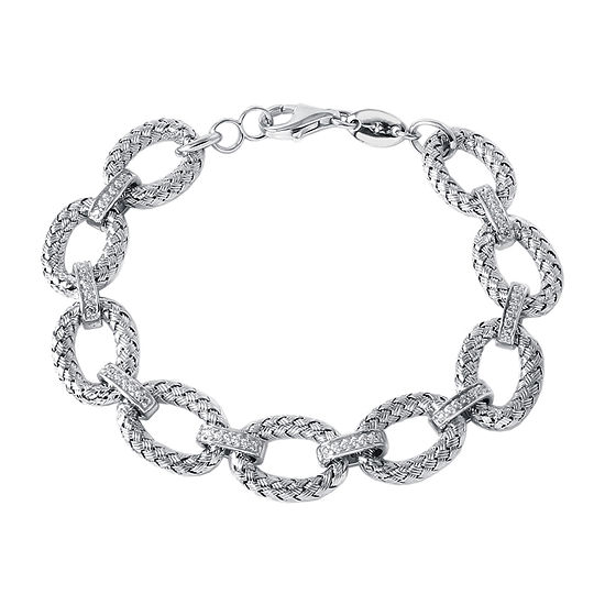 Paris 1901 By Charles Garnier Sterling Silver 7.5 Inch Hollow Link Link Bracelet