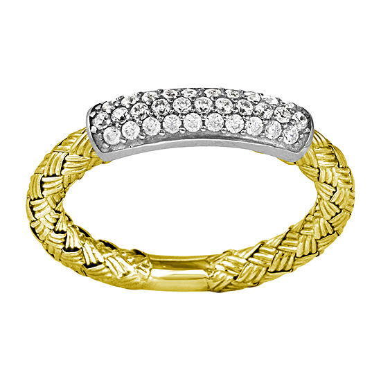 Paris 1901 By Charles Garnier Womens White Cubic Zirconia 18K Gold Over Silver Band