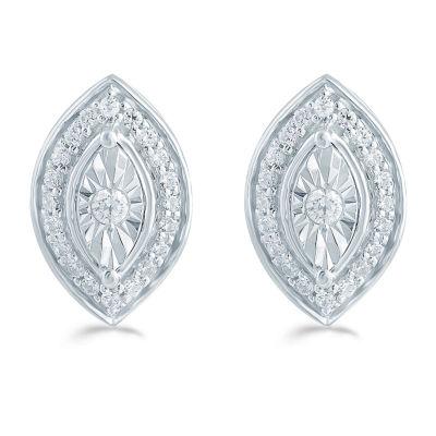 1/5 CT. T.W. Genuine White Diamond 11.3mm Stud Earrings
