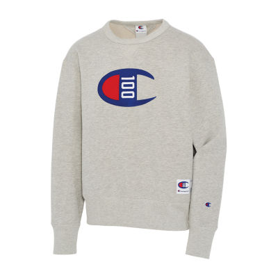 Champion Mens Crew Neck Long Sleeve Sweatshirt