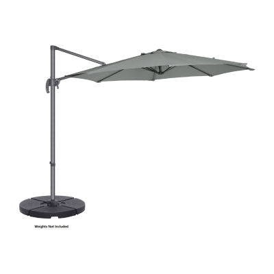 Villacera 10-Ft 360 Degree Rotational Pole And Vertical Tilt Offset Outdoor Patio Umbrella