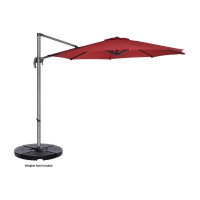 Villacera 10-Ft 360 Degree Rotational Pole And Vertical Tilt Offset Outdoor Patio Umbrella
