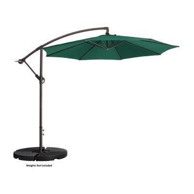 Villacera 10-Ft Rotational Aluminum And Vertical Tilt Offset Outdoor Patio Umbrella