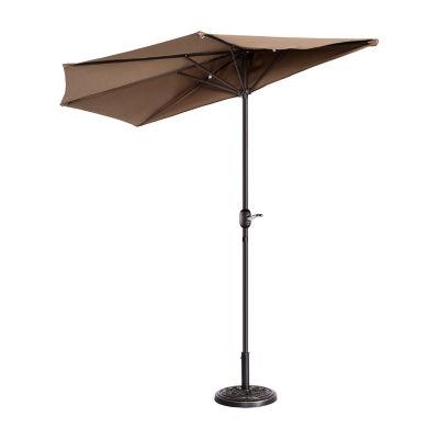 Villacera 9-Ft 5 Ribs Half Outdoor Patio Umbrella