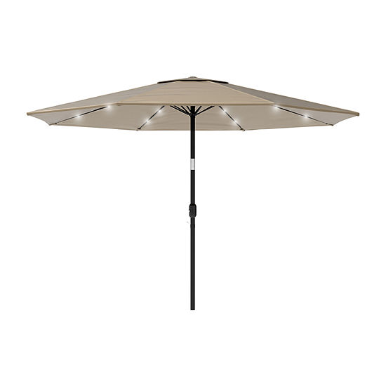 Pure Garden 10-Ft Led Solar Light Patio Umbrella