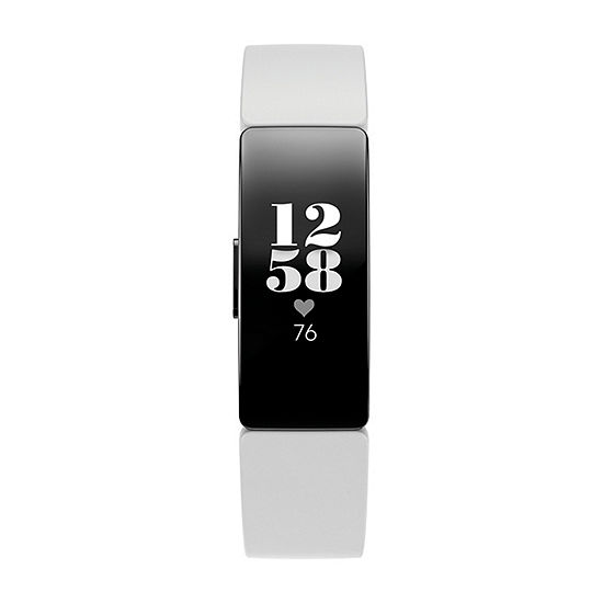 Fitbit Inspire Hr Unisex White Smart Watch-Fb413bkwt