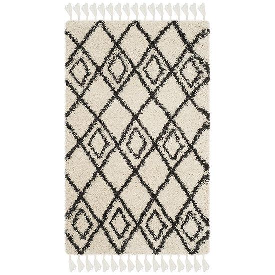 Safavieh Moroccan Fringe Shag Collection Aidan Geometric Area Rug