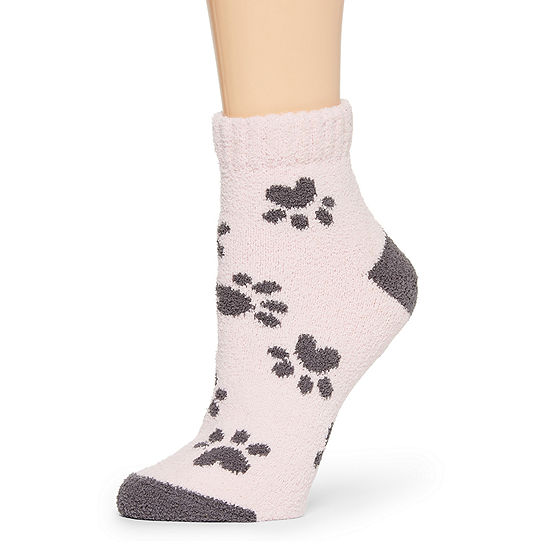 Legale Paw Print Slipper Socks Womens