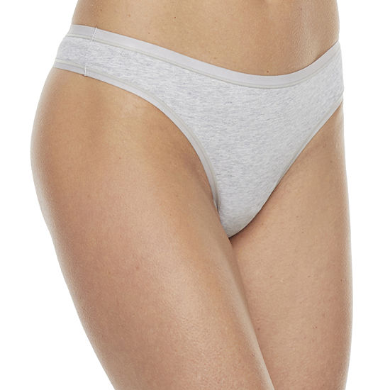 Ambrielle Organic Cotton Thong Panty