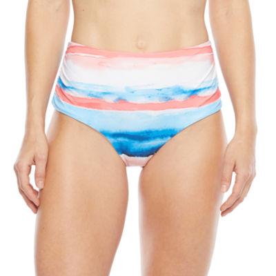 Peyton & Parker Family Swim Striped High Waist Bikini Swimsuit Bottom