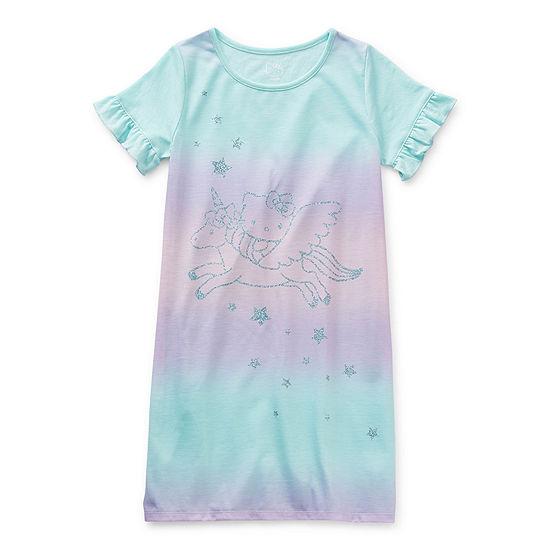 Hello Kitty Little & Big Girls Short Sleeve Round Neck Nightgown