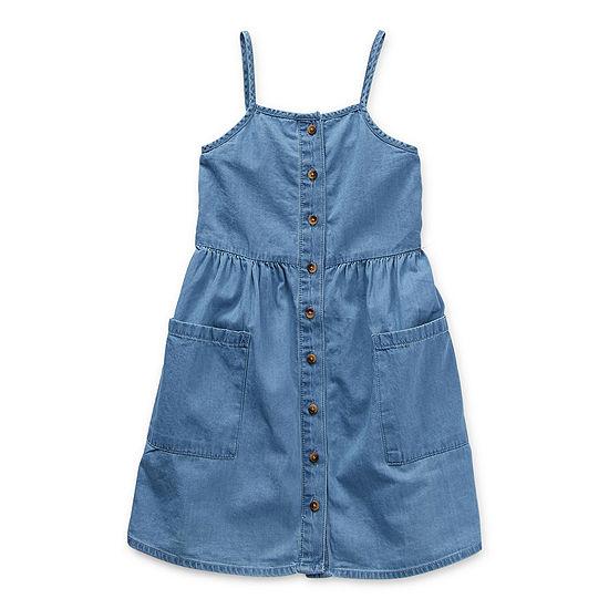Okie Dokie Toddler Girls Sleeveless Shirt Dress