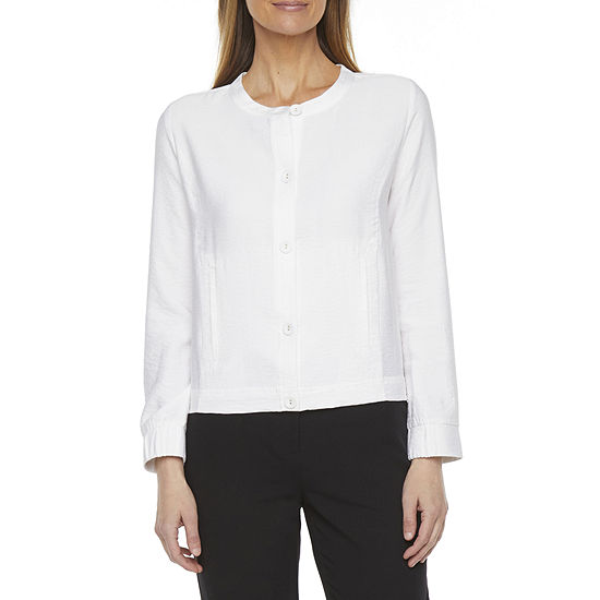Liz Claiborne Womens Long Sleeve Button-Down Shirt