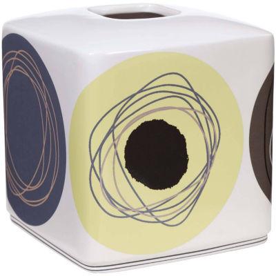 Creative Bath™ Dot Swirl Ceramic Boutique Tissue Holder