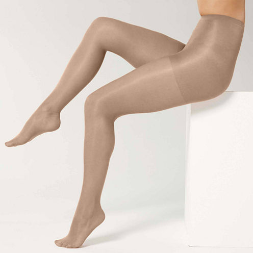 Sheer Caress™ 3-pk. Support Control Top Pantyhose - Queen