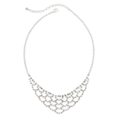 Vieste® Lace-Look Rhinestone Necklace