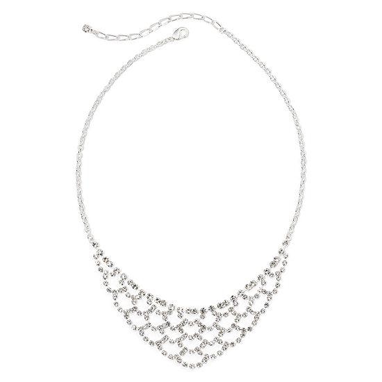 Vieste® Lace-Look Rhinestone Necklace