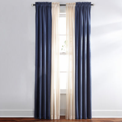 Queen Street Sutherland Rod-Pocket Curtain Panel