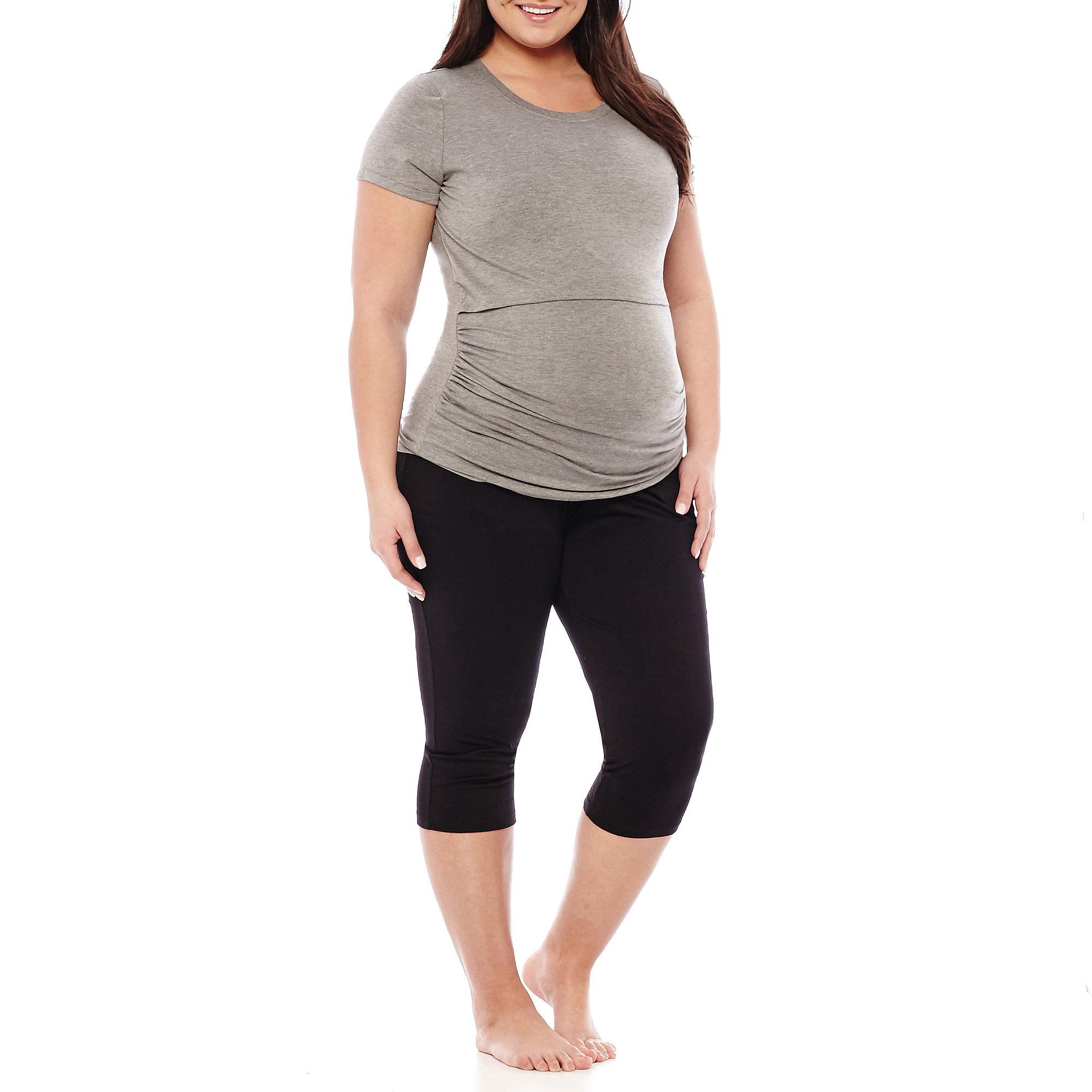 Spencer Maternity Nursing Top and Capris Set - Plus plus size,  plus size fashion plus size appare
