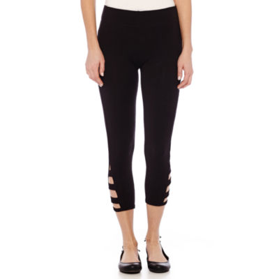 Mixit™ Knit Side Strap Capri Leggings