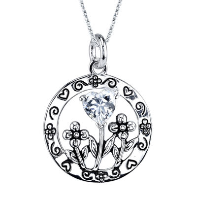 Inspired Moments™ Cubic Zirconia Sterling Silver Daughter Pendant