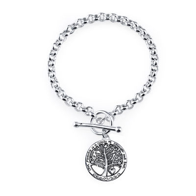 Inspired Moments™ Sterling Silver Family Tree Bracelet