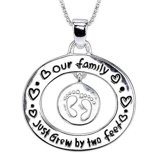 Inspired Moments™ Sterling Silver Growing Family Pendant
