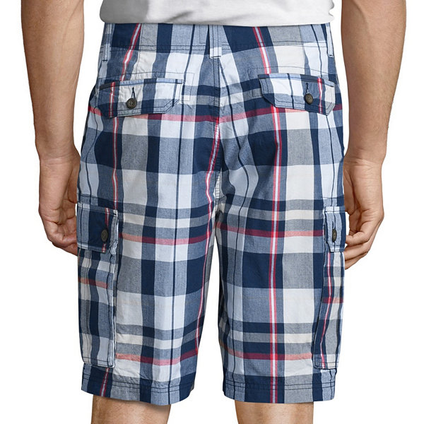 St. John's Bay® Madras Cargo Shorts