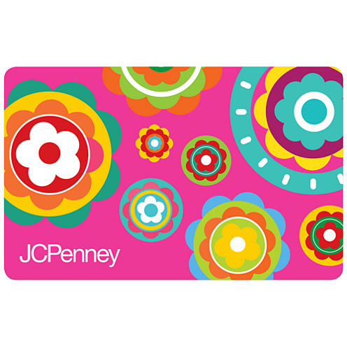 $25 Pink Flowers Gift Card