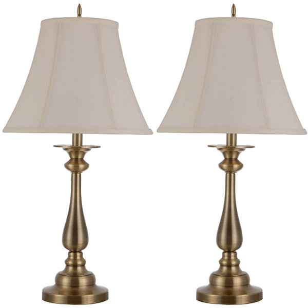 Jcpenney home set of 2 hennessey table lamps jcpenney home set of 2 hennessey antique brass table lamps mozeypictures Gallery