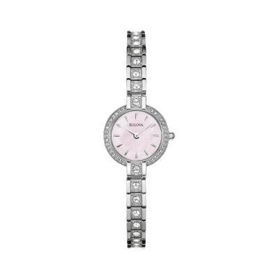 Bulova Womens Silver Tone Watch Boxed Set-96x131