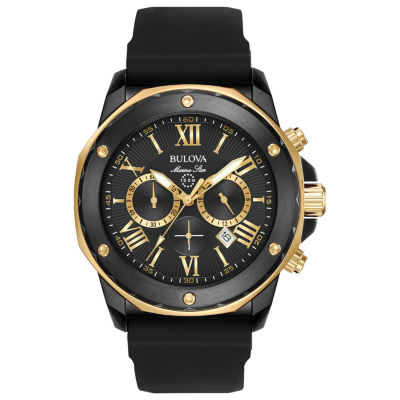 Bulova Mens Black Strap Watch-98b278