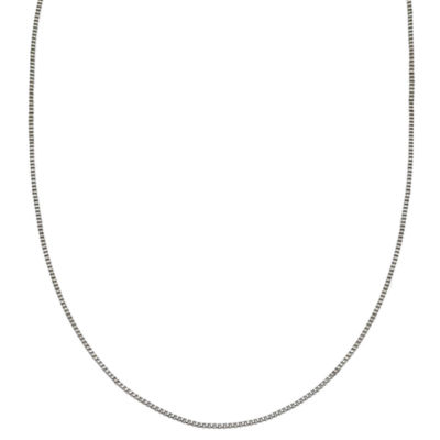 Silver Reflections™ Stainless Steel Box Chain Necklace