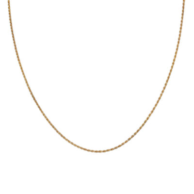 "Gold Over Sterling Silver 18"" Rope Chain"