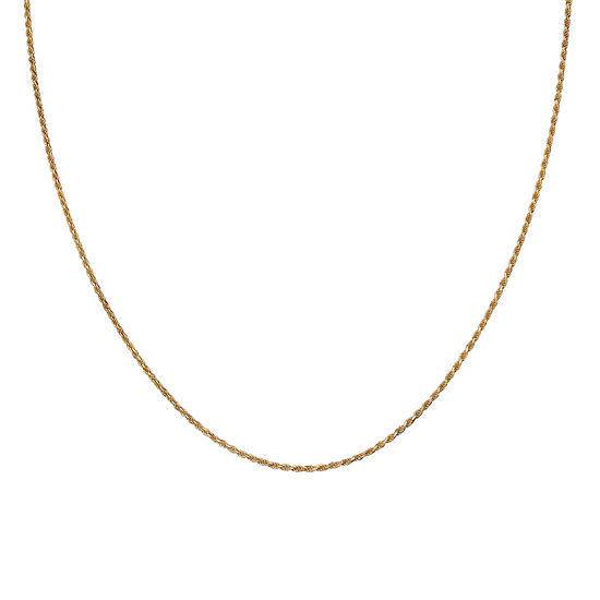 """Gold Over Sterling Silver 18"""" Rope Chain"""