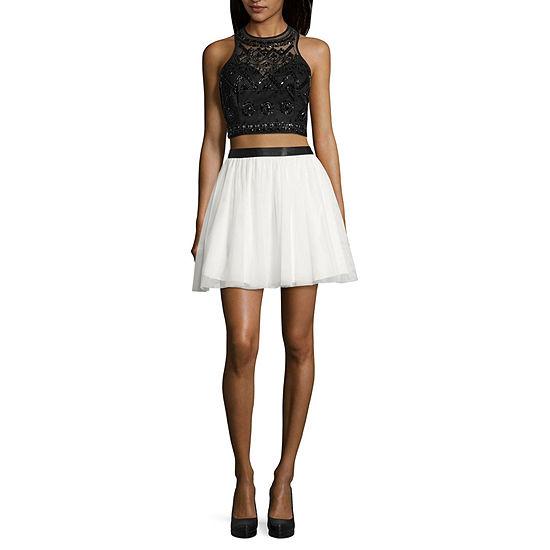 B. Smart-Juniors Sleeveless Applique Dress Set