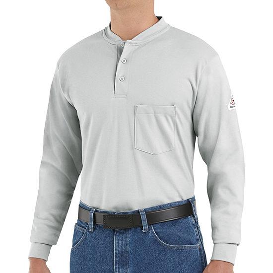 Bulwark® Flame-Resistant Long-Sleeves Henley Tee - Big & Tall