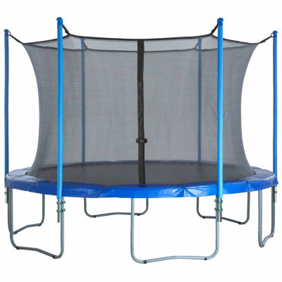 Upper Bounce Trampoline Enclosure Set- to fit 8 FT. Round Frames- for 3 or 6 W-Shaped Legs -Set Includes: Net- Poles & Hardware Only