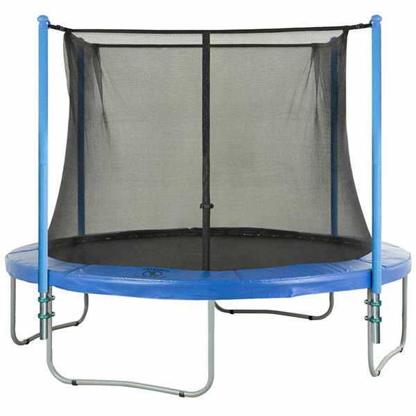 Upper Bounce Trampoline Enclosure Set- to fit 10 FT. Round Frames- for 2 or 4 W-Shaped Legs -Set Includes: Net- Poles & Hardware Only