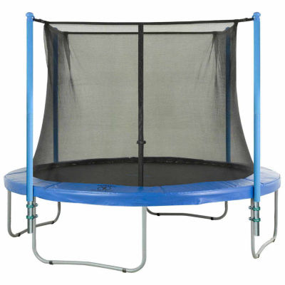Upper Bounce Trampoline Enclosure Set- to fit 12 FT. Round Frames- for 2 or 4 W-Shaped Legs -Set Includes: Net- Poles & Hardware Only