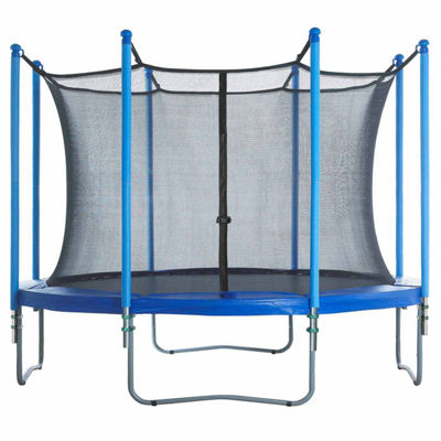 Upper Bounce Trampoline Enclosure Set- to fit 12 FT. Round Frames- for 4 or 8 W-Shaped Legs -Set Includes: Net- Poles & Hardware Only