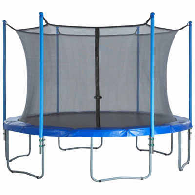 Upper Bounce Trampoline Enclosure Set- to fit 10 FT. Round Frames- for 3 or 6 W-Shaped Legs -Set Includes: Net- Poles & Hardware Only